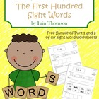 Fry Sight Word Worksheets - The First Hundred FREE SAMPLE