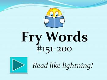 Fry Words #151-200 PowerPoint