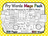 Fry Words Mega Pack {All 1000 Words}