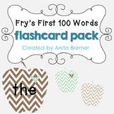 Fry's First 100 Words Flashcard Pack