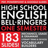Full Semester English Class Vocabulary, Grammar, and Liter
