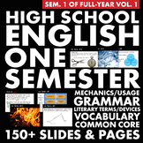 FULL SEMESTER H.S. English – Vocabulary, Grammar and Liter