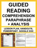 CCSS-Aligned:Paraphrase, Main Idea, Argument & Purpose: Pr