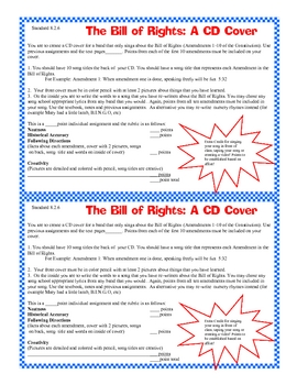 Bill of Rights CD Cover Project Activity Fun