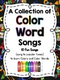 Fun Color Song Posters: Learn how to SPELL the Color Words