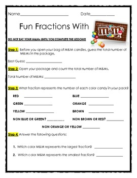 Fun Fractions with M&Ms