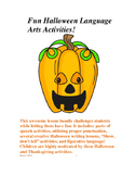 Fun Halloween Grammar & Literary Device Activities