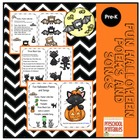 Fun Halloween Poems and Songs plus Puppet Sticks