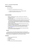Fun Intro. to Physical Science Lesson Plan w Lab Worksheet