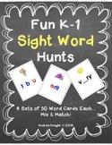 Fun K-1 Sight Word Hunts {Word Wall Words, too!}