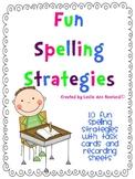 Fun Spelling Strategies