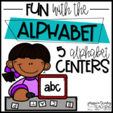 Fun With the Alphabet! ~ 5 Hands-On Centers