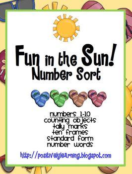 Fun in the Sun Number Sorts