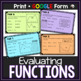 Functions Task Cards: Evaluating Functions in Different Forms