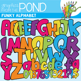 Funky Alphabet - Clipart For Teaching