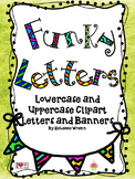 Funky Uppercase and Lowercase Letters Clip Art
