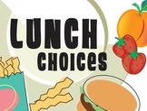 Funky Lunch Choices Icons