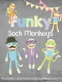 Funky Sock Monkeys in Daily 5 and CAFE (Freebie)