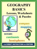 Geography Basics - Study Unit with Essential Lessons