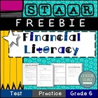 STAAR PRACTICE  *FINANCIAL LITERACY  *FREE 10 QUESTION ASS
