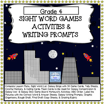 Dolch Sight Word Bundle for Grade 4 with Full Lesson Plans