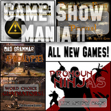 Game Show Mania TWO - Five MORE ELA PowerPoint Review Games
