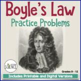 Gas Laws: Boyle's Law Homework