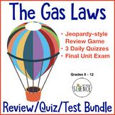Gas Laws Quiz Bundle of 5 Products: Quizzes, Unit Test, Je