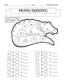 Gator Equator:  Multiplication Review 2-9