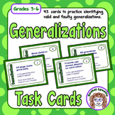 Generalizations Valid or Faulty Card