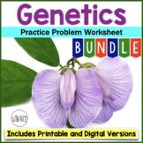 Genetics Practice Problem Worksheets - Set of 7 worksheets