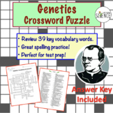 Genetics Vocabulary Crossword Puzzle (34 Key Terms)
