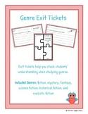 Fiction Genre Exit Tickets