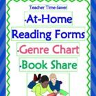 FREE Reading At-Home Program, Genre Menu & Book Share