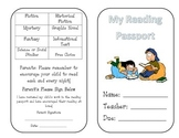 Genre Passport Reading Log Alternative