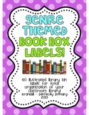Genre-Themed Book Box Labels {Bright Polka Dots}