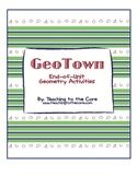 GeoTown - End-of-Unit Geometry Activities