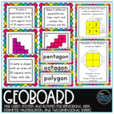 Geoboard Task Cards - Fun with Area, Perimeter, Multiplica