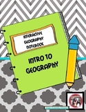 Geography Interactive Notebook and Foldables - Intro to Geography