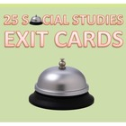 Geography Social Studies 29 Exit Cards for Daily Evaluation
