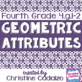 Common Core Geometry Attributes Lesson Plan Unit- 4th Grade