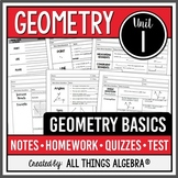 Geometry Basics (Unit 1 - Points, Lines, Planes, Angles) -