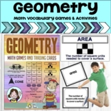 Geometry - Math Vocabulary Trading Cards - Math Games and