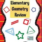 Geometry Review - Grades 3 - 5