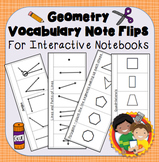 Interactive Notebook Geometry Vocabulary Flips and Quizzes