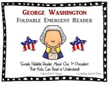 George Washington Emergent Foldable Reader ~Color & B&W~ P