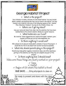 Georgia Habitat Lesson Plan Project