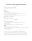 Georgia Habitats Piedmont & Mountains Study Guide
