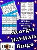 Georgia Habitats and Regions Bingo-Fun Test Prep!