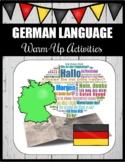 German Language Warm-Up Activities